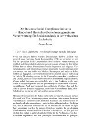 Die Business Social Compliance Initiative – Handel und Hersteller ...
