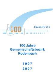 100 Jahre Gemeinschaftsbezirk Rodenbach - Evangelischer ...