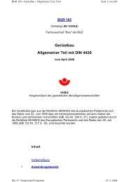 Gerüstbau Allgemeiner Teil mit DIN 4420