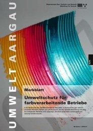 Merkblatt Umweltschutz für farbverarbeitende Betriebe - firma-web.ch