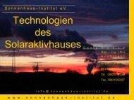 Sonnenhaus - bei AEE - Institut für Nachhaltige Technologien