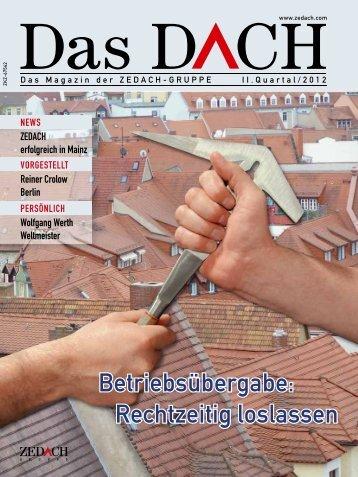 Betriebsübergabe: Rechtzeitig loslassen - DACHDECKER ...