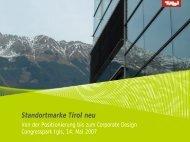 Standortmarke Tirol neu - Tiscover