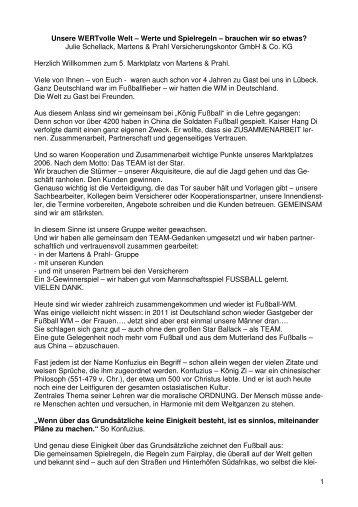 Unsere WERTvolle Welt - Martens & Prahl-Philosophie - jas-team-de