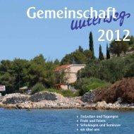 Gemeinschaft unterwegs 2012 - Evangelischer ...
