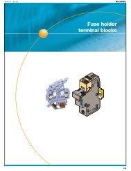 Fuse holder terminal blocks - Entrelec