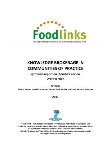 knowledge brokerage in communities of practice - Foodlinks