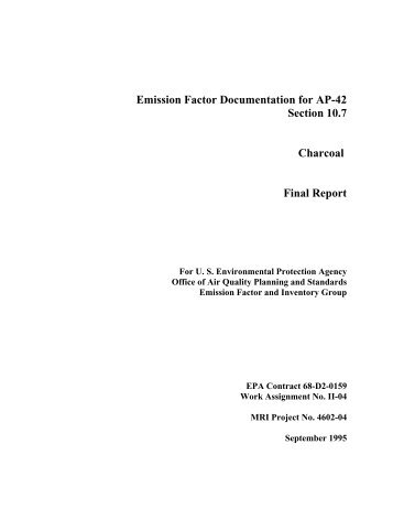 AP-42, Vol. 1, Final Background Document for - US Environmental ...