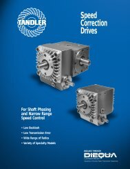 Speed Correction Drives For Shaft Phasing and Narrow - Zycon