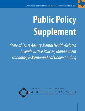 State of Texas Agency Mental Health-Related Juvenile Justice ...