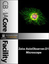 Zeiss AxioObserver.D1 Microscope Objectives