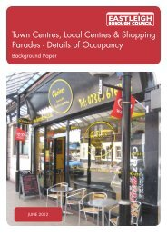 Town Centres, Local Centres & Shopping Parades - Details of ...
