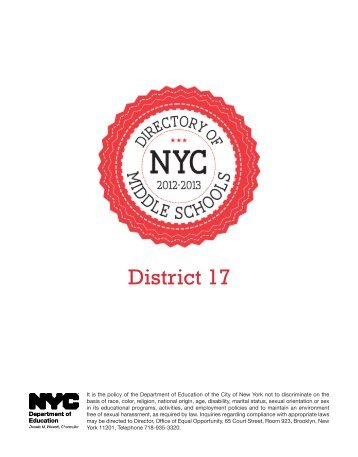 Brooklyn D17 - New York City Department of Education - NYC.gov