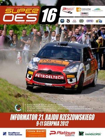 Informator 21 RR - Rajd Rzeszowski