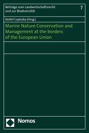 Marine Nature Conservation and Management ... - Zum Nomos-Shop