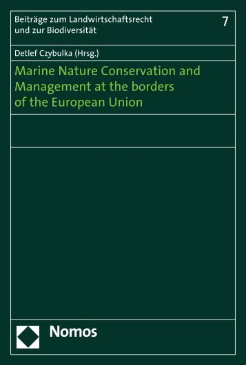 Marine Nature Conservation and Management ... - Zum Nomos-Shop