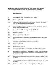 Verwaltungsvorschrift zum Vollzug der §§ 33 c, 33 d, 33 i und 60 a ...