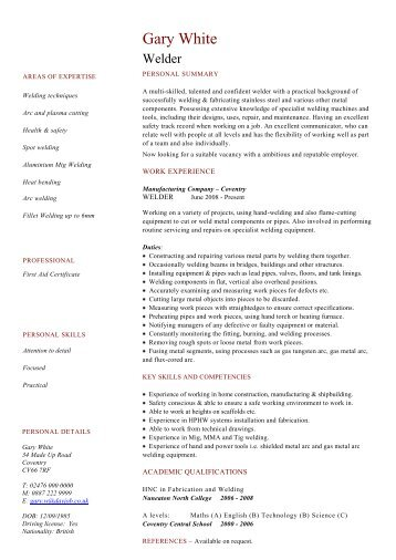 Security guard cv template dayjob welder cv template example dayjob yelopaper Choice Image