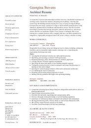 Architecture Resume Template Cv Example Job Description Dayjob