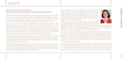 program Wrzesień 2012 - Austriackie Forum Kultury