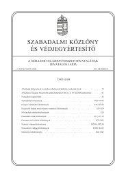 szabadalmi közlöny és védjegyértesítõ - Szellemi Tulajdon Nemzeti ...