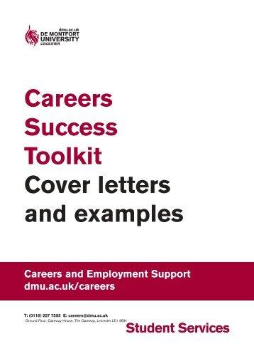 Cover letters - De Montfort University