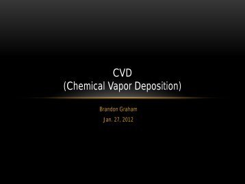 CVD (Chemical Vapor Deposition)