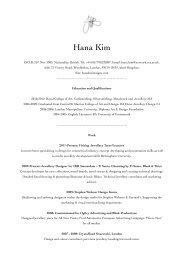 Hana Kim CV new copy - Hana Kim Designs
