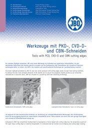 Werkzeuge mit PKD-, CVD-D- und CBN-Schneiden - Johs. Boss