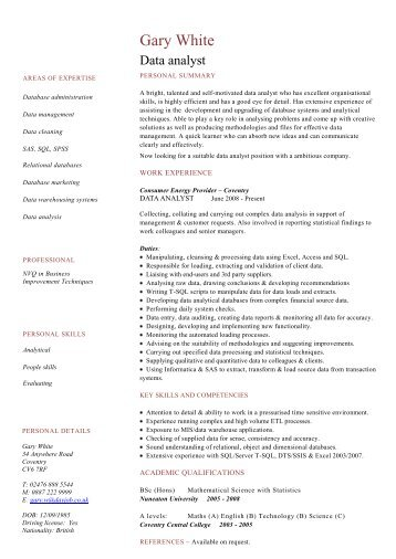 Welder cv template example dayjob data analyst cv template dayjob pronofoot35fo Gallery