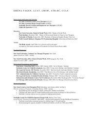 C2h. Drena Fegan CV - NYU Steinhardt School of Culture ...