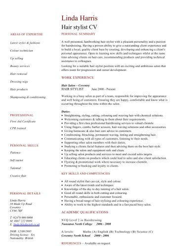 hair stylist assistant resume sle teaching assistant cv exle