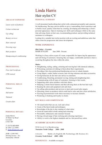 Sap Cv Template Sample - Dayjob