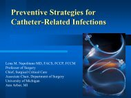 Preventative Strategies for Catheter-Related Infections
