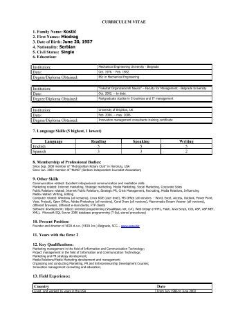 cv steve knackstedt   cws consultingmiodrag kostic cv   web consulting