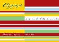 Sommer 2008 Einladung zum  Sommerfest - Elcampo