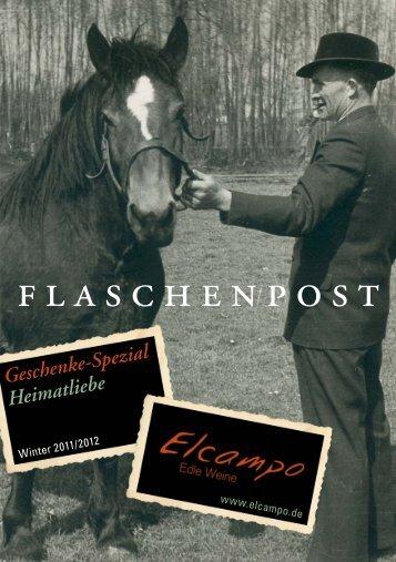 Flaschenpost Heimatliebe Herbst/ Winter 2011 - Elcampo