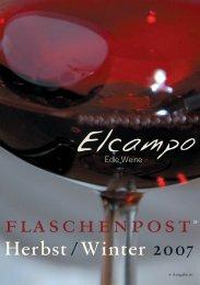 Flaschenpost Herbst /  Winter 2007 - Elcampo