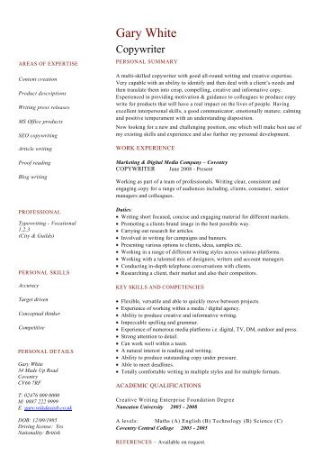 day job cv - Template