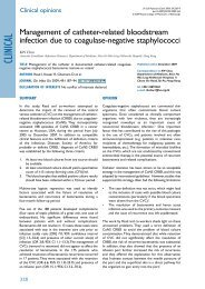 Management of the catheter in documented catheter-related ...