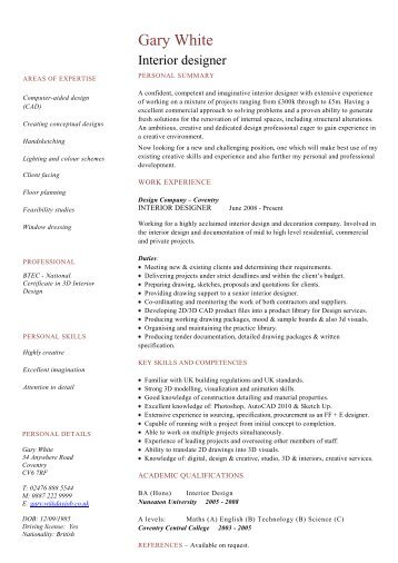 Architect resume template cv example job description dayjob interior designer cv template dayjob yelopaper Image collections