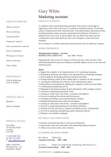 Chef cv template download dayjob marketing assistant cv template dayjob pronofoot35fo Gallery