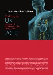 Modelling the Burden of Cardiovascular Disease to 2020