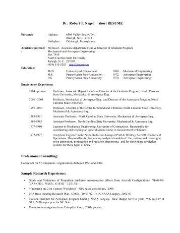 Brief Resume for Dr. ANDREW BENEDEK Dr. Andrew Benedek ...