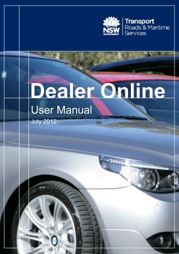 Dealer Online User Manual - RTA - NSW Government