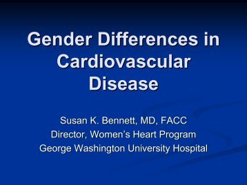 Gender Differences in Cardiovascular Disease - Society for ...