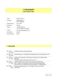 Lebenslauf - IT-Beratung und Softwareentwicklung Andreas Glaser ...