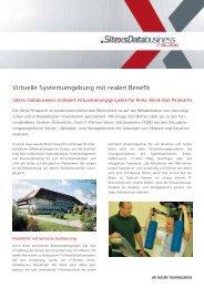 SDB Bad Pirawarth Virtualisierung freigegeben - SiteXs