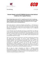 Industri Kapital verkauft DYWIDAG-Systems International GmbH an ...