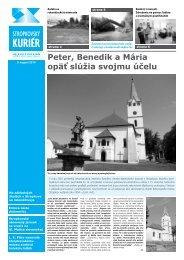 Peter, Benedik a Mária opäť slúžia svojmu účelu - Mesto Stropkov